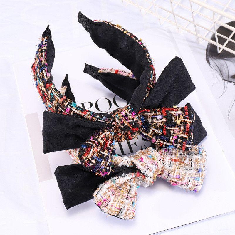 Retro Schwarz Weiß geknotete Stirnband Geschenke New Small Bogen Haarnadeln Wilde breitkrempigen Hairpin Stirnbänder Kopf Schmuck Zubehör