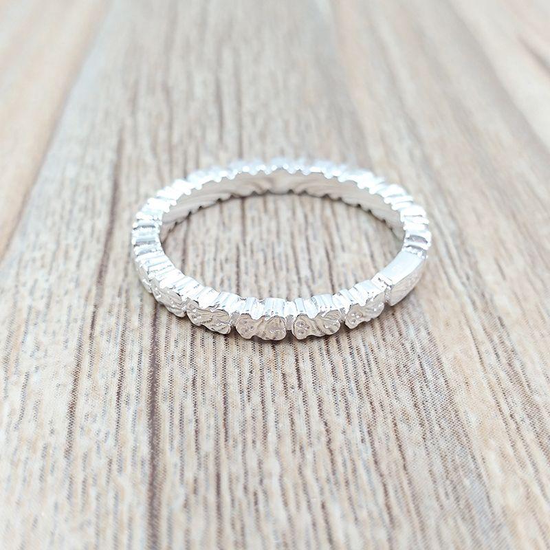 Oso joyería 925 anillos de plata anillo recta adapta a la joyería europea del estilo de regalo 512725520