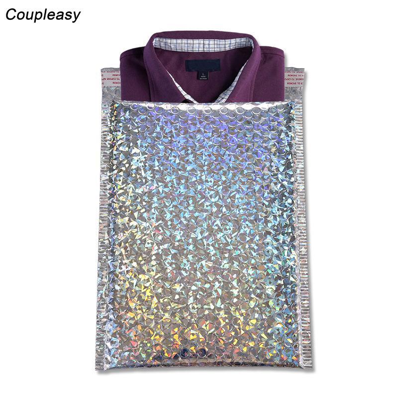20pcs 3 sizes Laser Plastic Bubble Mailer Self Adhesive Padded Envelopes Foam Express Packaging Bag Bubble Envelope Bags
