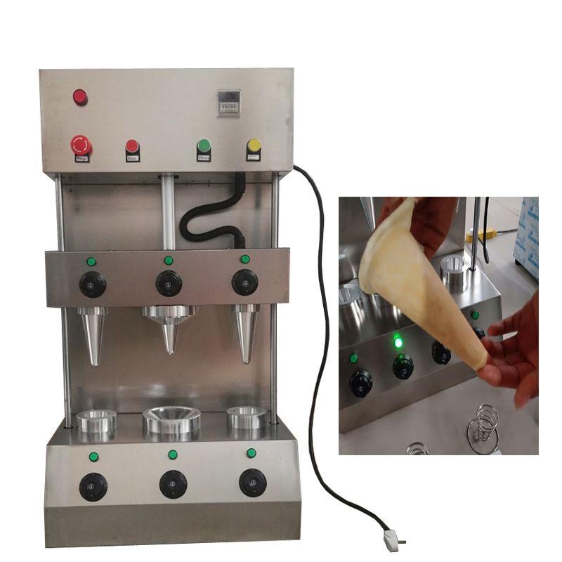 2020 nova máquina Pizza cone máquina comercial de aço inoxidável de pizza cone rotativo handheld máquina de cone tomada de pizza
