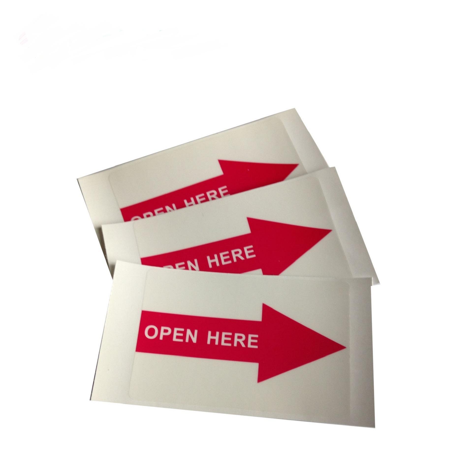 사용자 정의 방향 경고 접착 스티커, 심천의 화살표 라벨 메이커