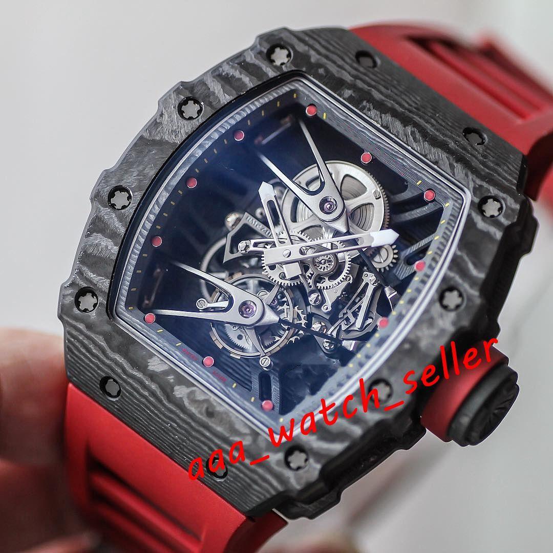 7 стилей мужчин роскошные часы RM27-02 Rafadl NADAL RM052 черный углеродное волокно NTPT Watchcape Outdoorworked механическое движение турбийонский сапфир