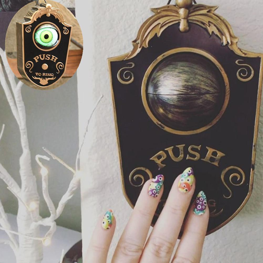 Halloween Party Doorbells DIY Decoration Props Horror Eye Lighting Skull Shape Door Bell Toy Haunted House Party Decor Doorbells