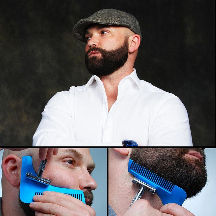 2020, com pacote de Beard Bro Shaping ferramenta Styling Template BARBA SHAPER Pente para Ferramentas Template Beard Modelando 10 COLORS enviar por DHL