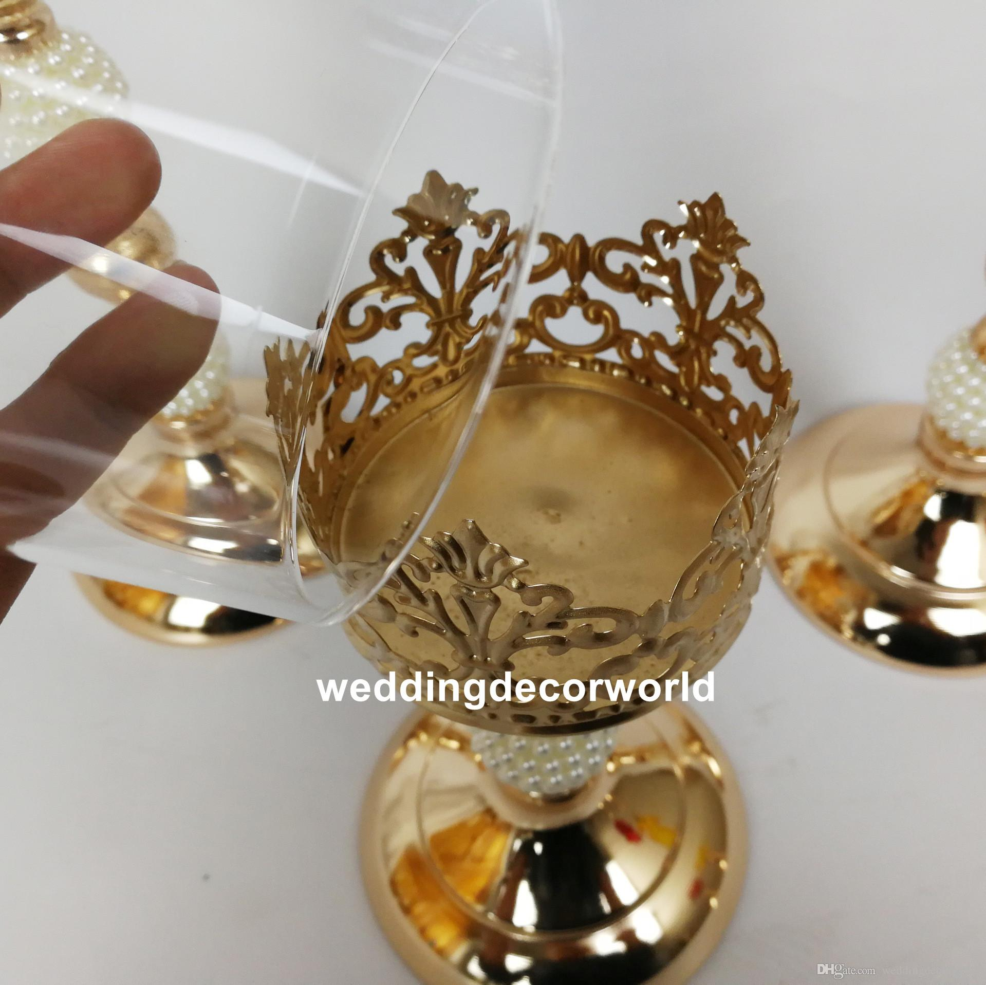Home Garden Crystal Glass Block Lotus Flower Metal Candle Holders Feng Shui Home Decor Big T Laborsrb Com