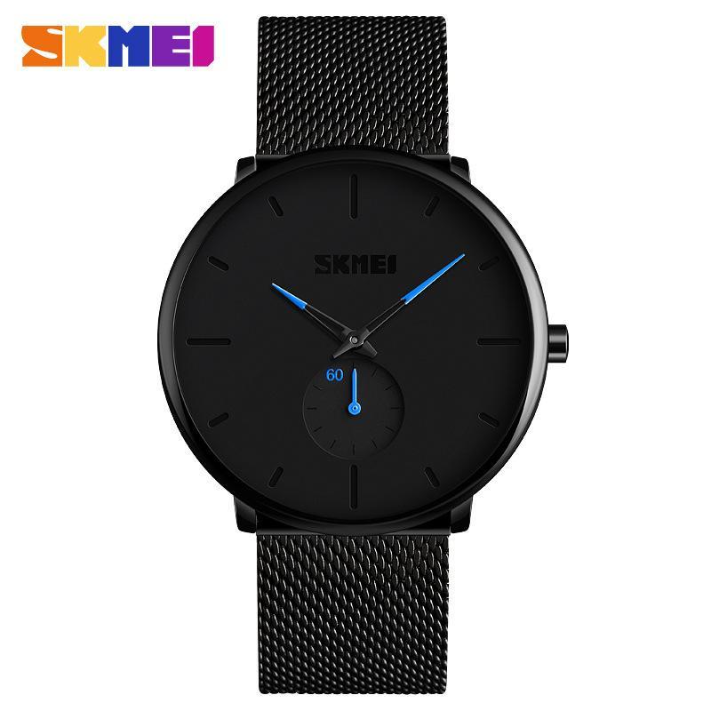 Skmei art de la marque montre à quartz étudiant, transfrontalier imperméable hommes bande en acier de mode Business Watch