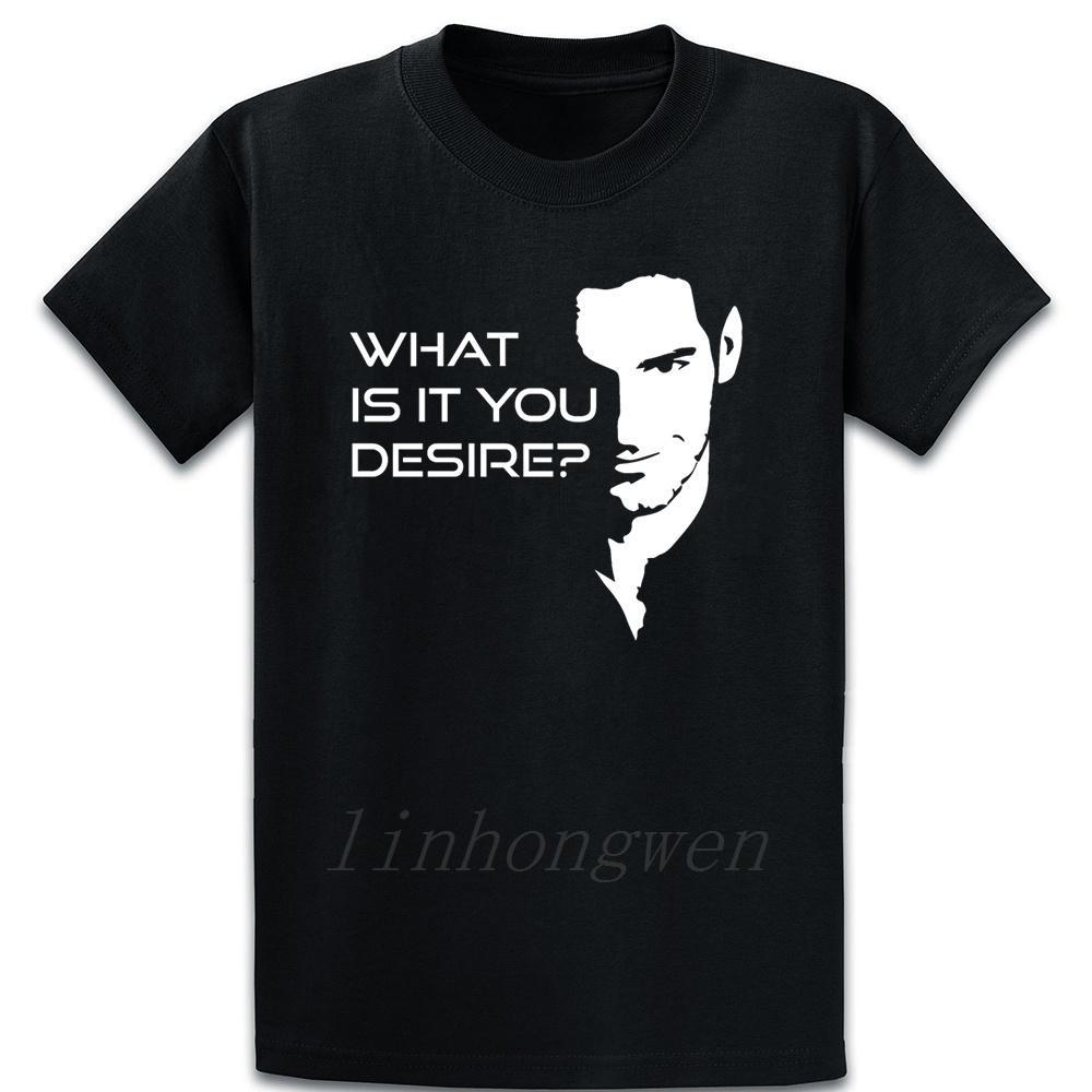 Lúcifer Morningstars que é que você Desejo Camiseta Criar Casual Anti-rugas Único Primavera Família Camiseta Euro Tamanho S-5XL