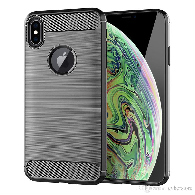 TPU Silicone Case Brush-Finish copertura del telefono iPhone Per XS MAX XS XR X 7 8 6 Samsung J4 Inoltre Huawei 2018