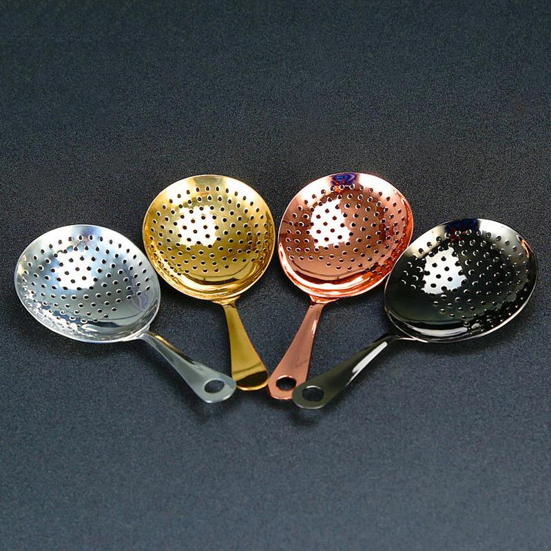 Bar à cocktails Passoire 304 Filtre en acier inoxydable glace plaqué cuivre plaqué or noir barre d'outils WB1912
