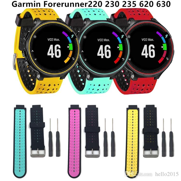 Wrist Watchband Strap For Garmin Forerunner 230 235 630 220 620 735 Universal Silicone Watch Band Replacement Smart Wristband High Quality