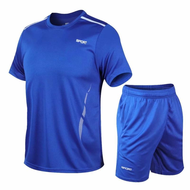 Koşu Formalar Erkekler Spor Gömlek Şort Spor Erkek Kısa Kollu Spor Salonu Gömlek Spor Takımları Hızlı Kuru Futbol Basketbol Forması