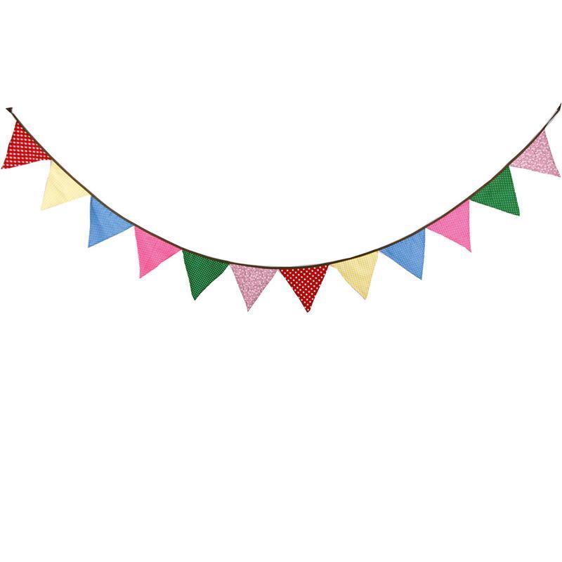 3.2m 12 Bayraklar Şeker Renk Pamuk Banner Flama Garland Çocuk Bebek Doğum Günü Bunting Düğün Dekor Fotoğraf