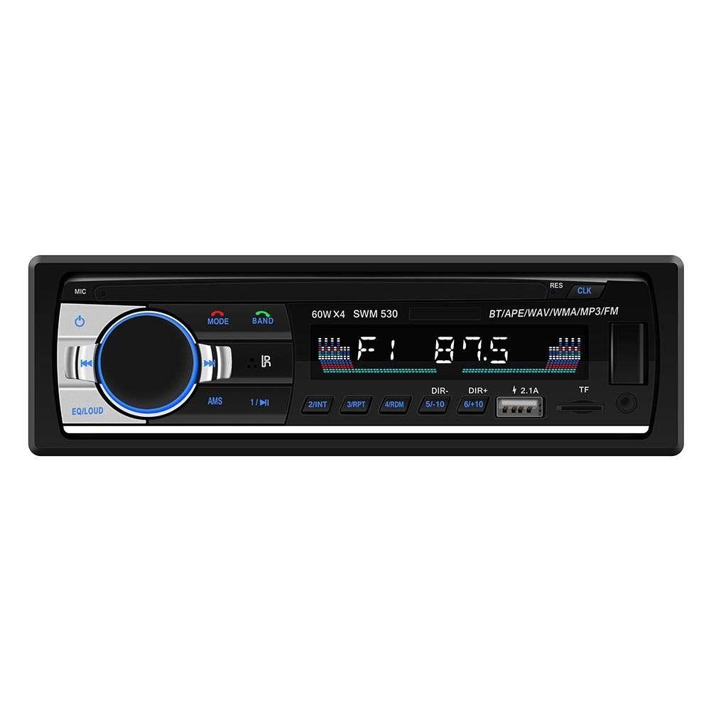 SWM-530 Autoradio 높은 정의 보편적 인 두 배 DIN LCD 카 스테레오 멀티미디어 Bluetooth 4.0 차 MP3 음악 플레이어 FM 라디오 이중 USB AUX
