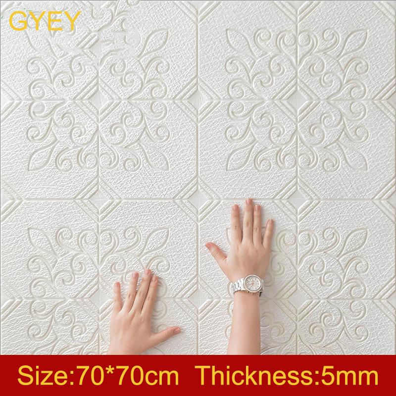 3d Wall Stickers Wallpaper Living Room Bedroom Decoration Room Simulation Wood Grain Personality Creative Anti-collision Sticker