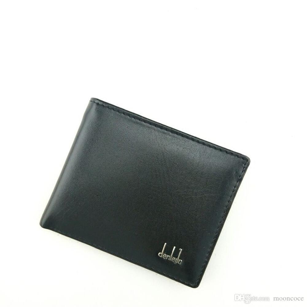 Marken-Weinlese Mens Wallet Feine Bifold Brown PU-Leder-Geld Clutches Handtasche Berühmte Qualitäts-Schwarz-Designer Geldbörse für Männer Großhandel