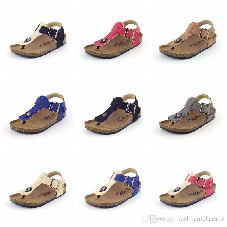 Toddler Shoes Thong Sandals PU Cork for Children Boys And Girls Summer Sandals Flip Flops Toddler Shoes for Sale Berk Kids Sandals