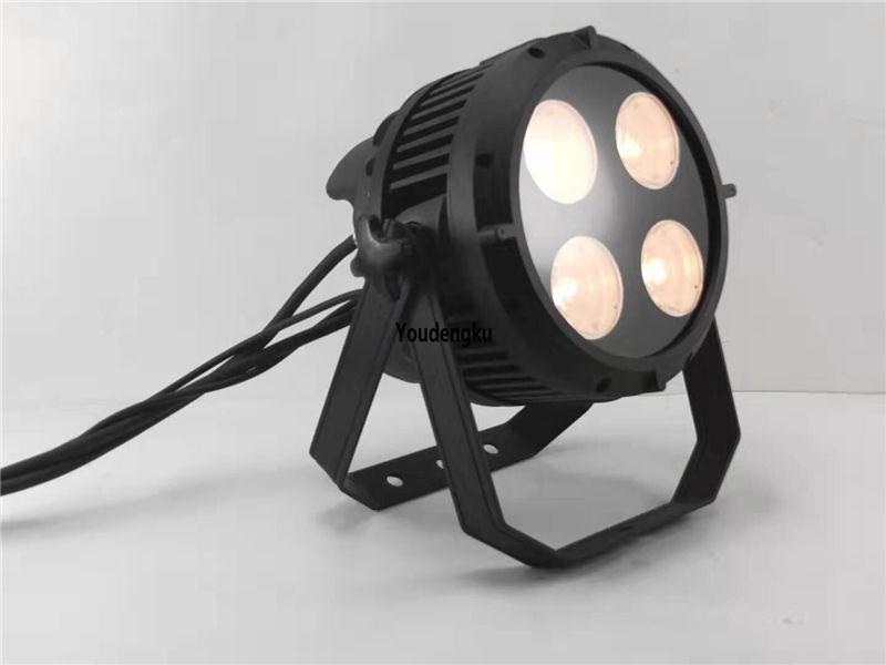 8pcs 200w IP65 cob LED PAR 64 lata 4 olhos * 50w branco morno branco fresco impermeável cob PAR LED