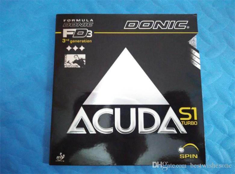 Free Shipping Donic ACUDA S1 Turbo table tennis rubber ping pong rubber table tennis rackets balde racquet sport table tennis cover..