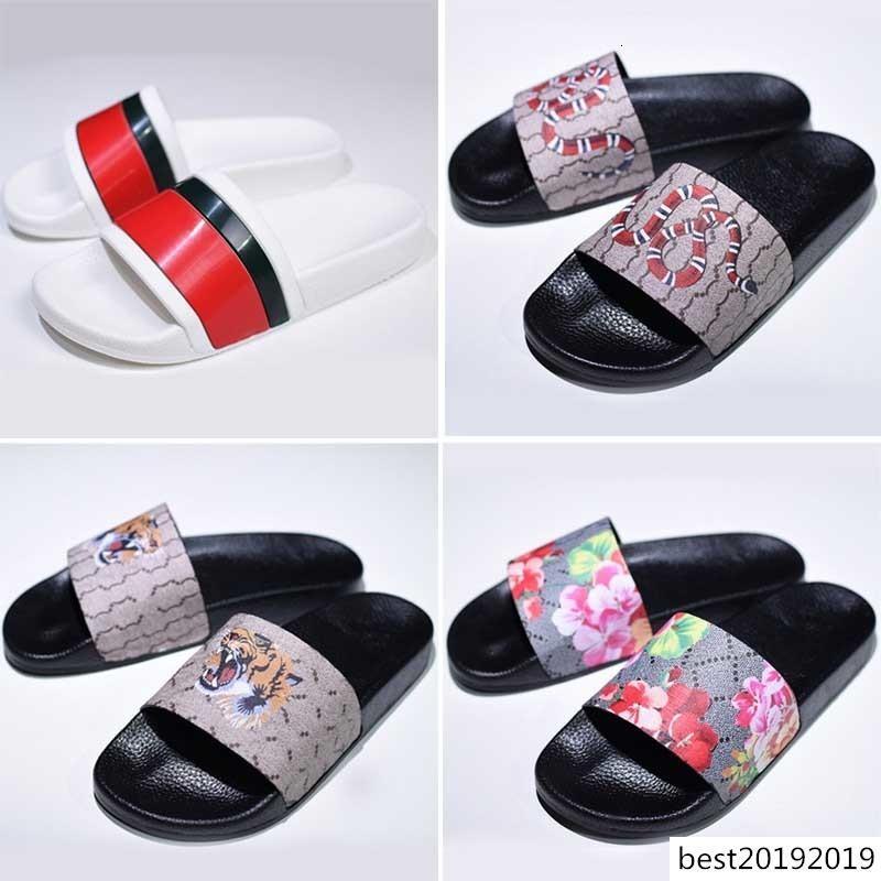 Alta qualità pantofole degli uomini di modo di lusso estate Donne Pelliccia diapositive gomma antiscivolo Beach Designer Flip Flops Tiger Outdoor Sandles Size36-45