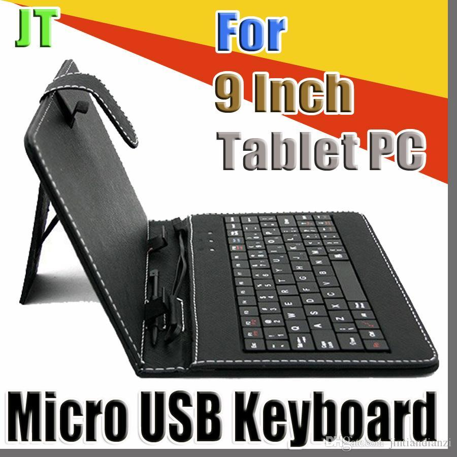 JT 2020 الألوان OEM مايكرو USB لوحة المفاتيح حقيبة جلد لل9 بوصة الروبوت اللوحي جلدية قابلة للطي واقية B-JP