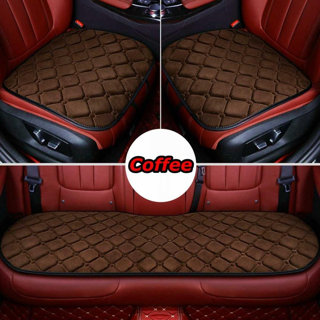 3X Front /& Rear Car Seat Cover Breathable Bamboo Pad Mat PU Leather Cushion