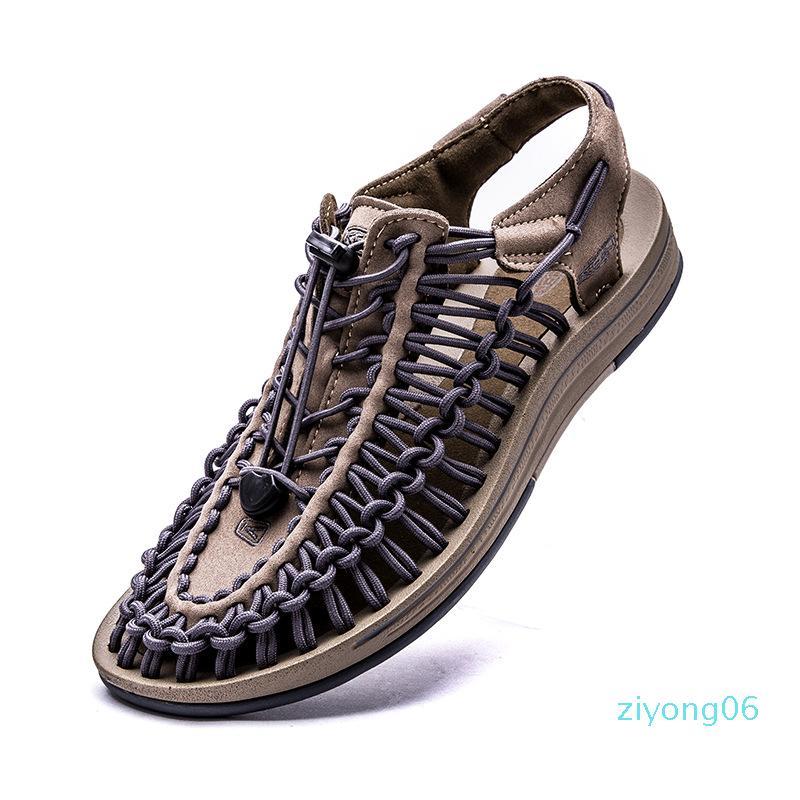 Zapatos 2019Summer trenzada de los hombres, sandalias, sandalias romanas, deportes de los hombres de gran tamaño para hombre zz6 gladiador sandalias de verano