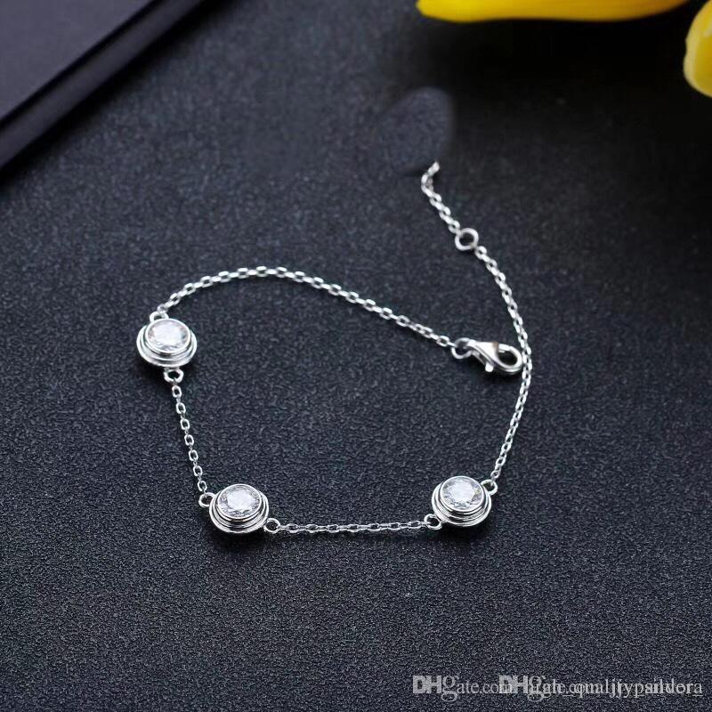2019 Top Design Bracelet de haute qualité originale Argent 925 avec Iconic conception des vis et élégant style de témoin de votre amour parfait