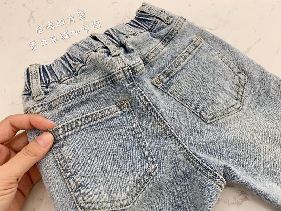 vêtements pour enfants jeans enfants garçons 2019 Fractionnement broderie Cartoon mince jeans taille élastique joli pantalon en denim tops enfants bébé garçon vêtements 2-19