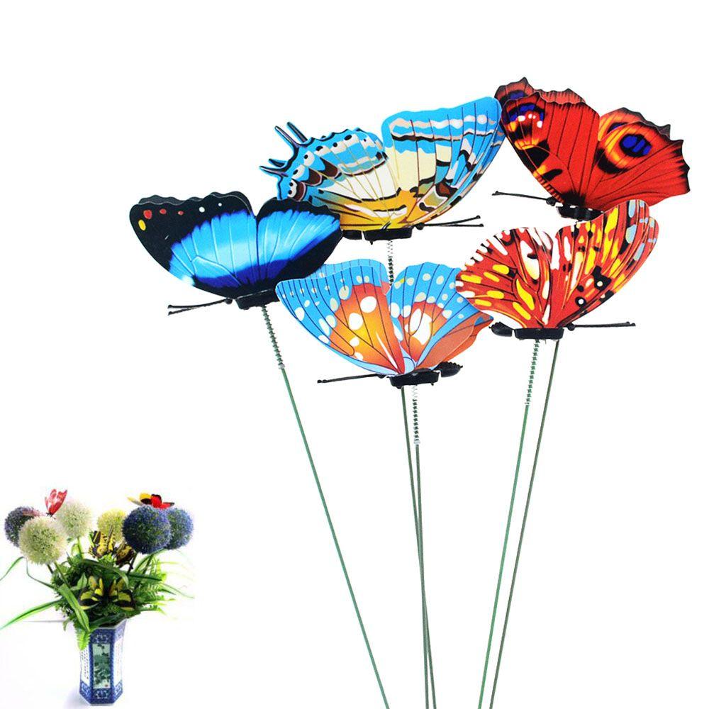 ARD 정원 장식 장식 말뚝 바람 스피너의 5PCS / 많은 7 * 25cm 나비 정원 마당 화분 다채로운 기발한 나비 ...