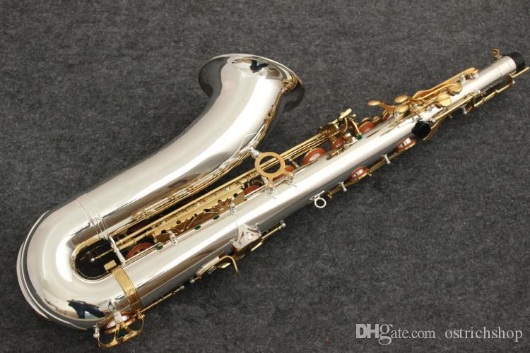 جديد تينور ساكسفون Yanagisawa T-9930 الآلات الموسيقية BB لهجة النيكل الفضة مطلي أنبوب الذهب مفتاح ساكس مع حالة لسان حال