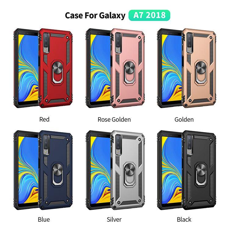 Samsung Galaxy M10 Için 100 adet M20 A7 2018 A750 Durumda darbeye dayanıklı sert plastik kasa rugger zırh zor durumda galaxy a10 a20 a30 a40 a50 a50