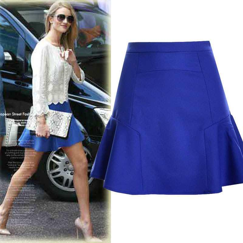 Customize fez as mulheres Casual Plus Size 3XS-10XL acima do joelho Curto Fishtail Saias de Lady Summer Fashion Mini Mermaid / Trumpet Skirt