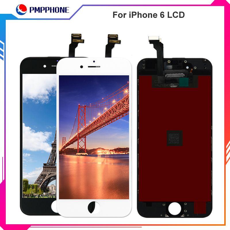 Para el iPhone 6 6s Pantalla de cristal lcd blanco Pantalla táctil Digitalizador LCD Conjunto de herramientas de reemplazo Envío libre de DHL