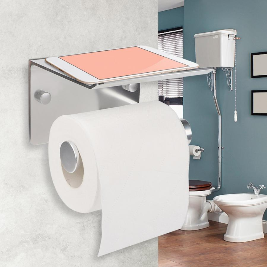 No Drilling Tissue Rack Wall-mounted Toilet Roll Paper Holder Bathroom Hotel Office paper towel holder stand