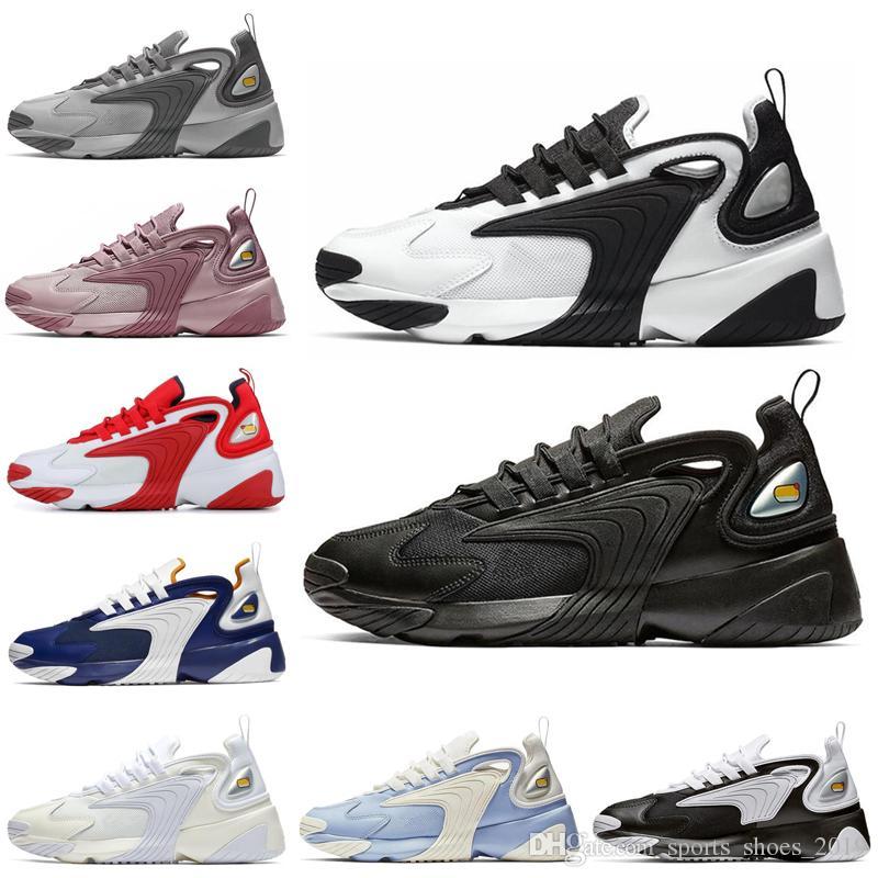 Nike Zoom 2K M2k Tekno Zoom 2K Triple Negro Hombres Mujeres Zapatillas  Blanco Negro Raza Rojo Cremoso Blanco Mujeres Zapatillas De Deporte Para  Hombre ...