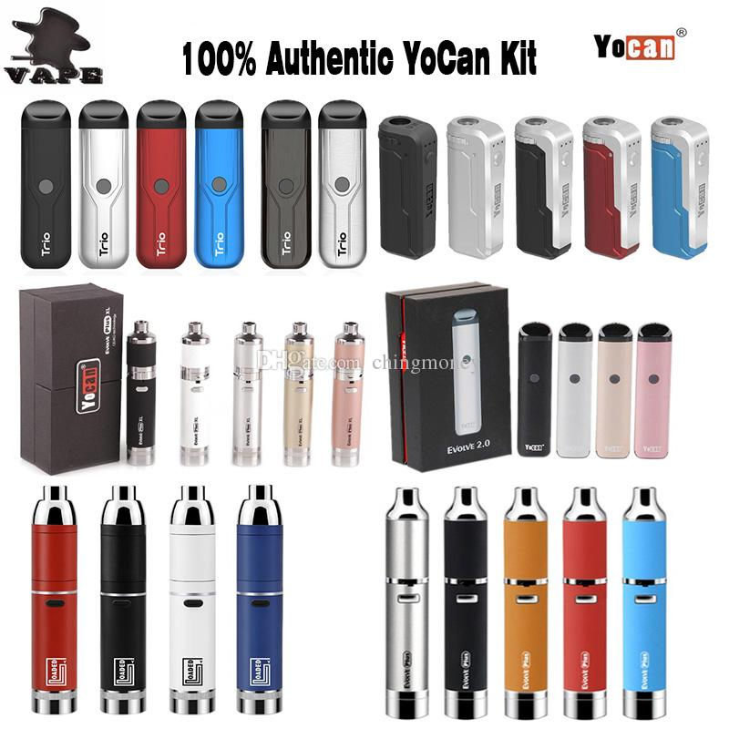 100%Original Yocan Trio Pod Evolve 2.0 Plus XL UNI Mod Loaded Starter Kit E Cigarettes Wax Vaporizer Dry Herb Vape Pen Kits
