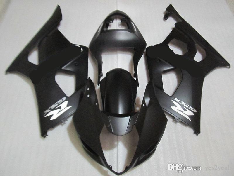 corps Carénage injection Kit Pour SUZUKI GSXR1000 03 04 GSXR 1000 K3 2003 2004 GSX R1000 noir mat carénages carrosserie + cadeaux