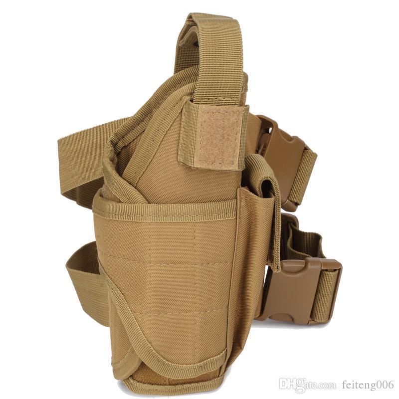 UK Adjustable Tactical Military Pistol Gun Drop Leg Thigh Holster Pouch Bag NEW