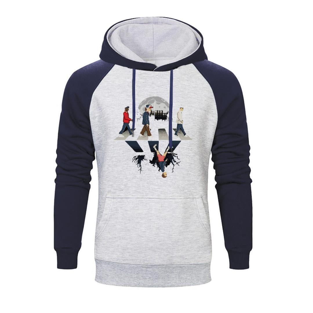 Mode Vêtements pour hommes Sweats à capuche Sweat à capuche drôle Hommes Automne Hiver 2019 Hip Hop Fleece Pull Harajuku Streetwear