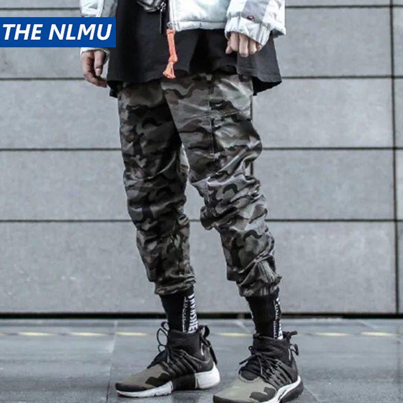 Hip Hop Crayon Pantalons Hommes Pantalons Cargo Streetwear Hommes Pantalons de camouflage 2019 Tactics Hommes Printemps Pantalon HD065