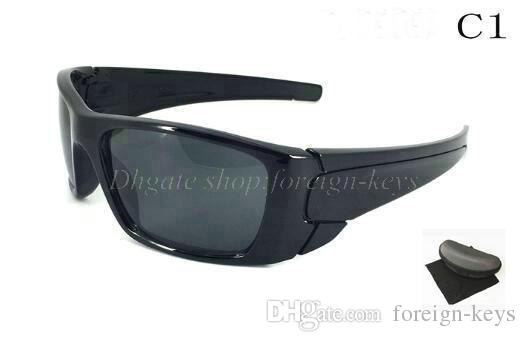 New Fashion Men' s Women's black frame Bicycle Glass sun glasses sunglasses googel glasses free shipping with case.