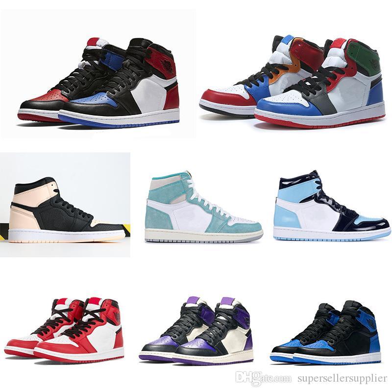Nike air jordan 1 shoes Basketball Shoes umpman 1 Tênis de basquete Tênis Atletismo Sapata Running For Women Sports Torch Hare Jogo Real Pine Green Court Sem Box