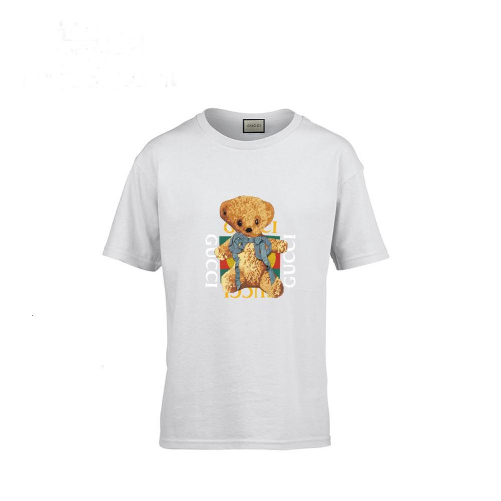 Printemps Paragraphe pur court blanc manches T ours mignon T-shirt Femme demi-vêtements en coton Child Ecole 010503