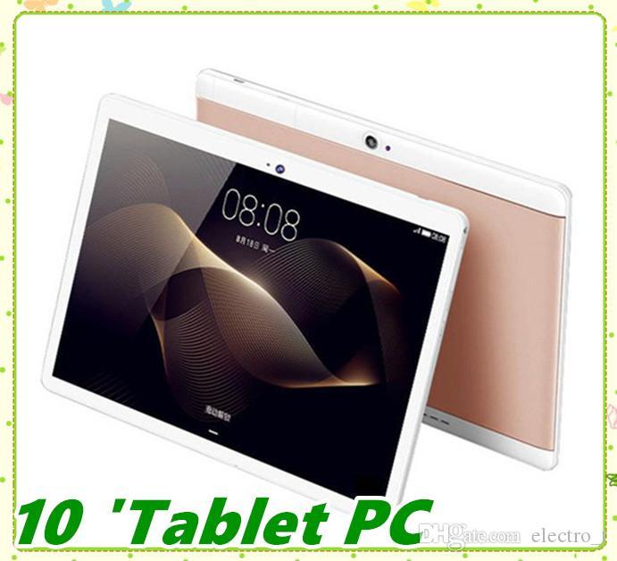 جودة عالية الثماني الأساسية 10 بوصة MTK6582 IPS بالسعة الشاشات التي تعمل باللمس المزدوج سيم الجيل الثالث 3G الهاتف PC قرص الروبوت 6.0 4GB 64GB MQ10