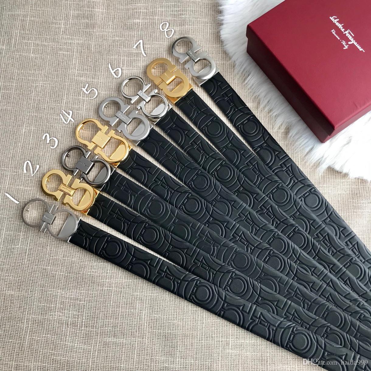 Encuentra cinturones cinturones de lujo de diseño Aprobado similares para hombres cinturón de hebilla de cinturón de castidad masculina superior hombre de la moda cinturón de cuero libre al por mayor