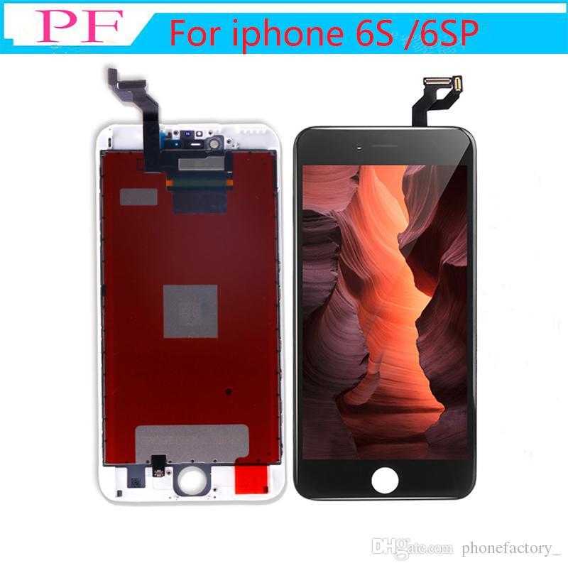 아이폰 6S / 6S Plus LCD 디스플레이 용 고휘도 등급 A +++ 3D 터치 스크린 디지타이저 어셈블리 교체 디스플레이 No Dead Pixel