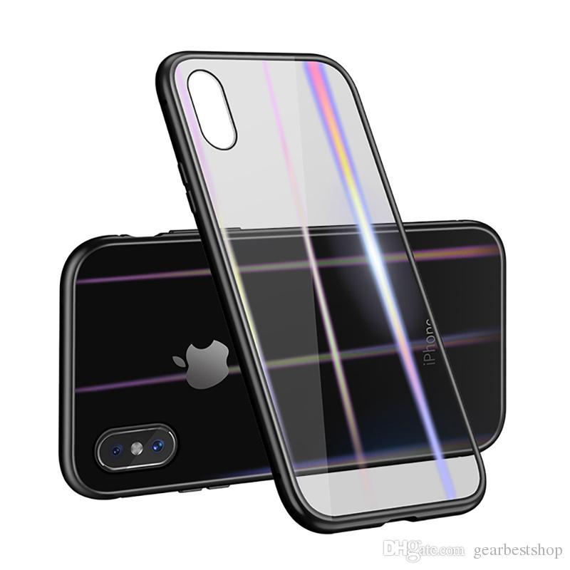 المغناطيسي الملك فليب زجاج حالة الهاتف المغناطيسي حالة الهاتف ل iOS 6/7 - من خلال الحدود أبيض / أحمر / أسود ل iphone7 / 8plus