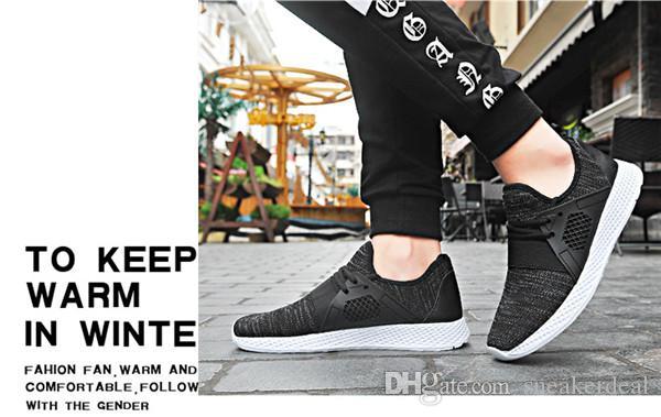 Turnschuhe für Männer Jogging Laufschuhe Licht Outdoor-Sport Schuh-Schwarz-Weiß zapatillas hombre deportiva mit Box