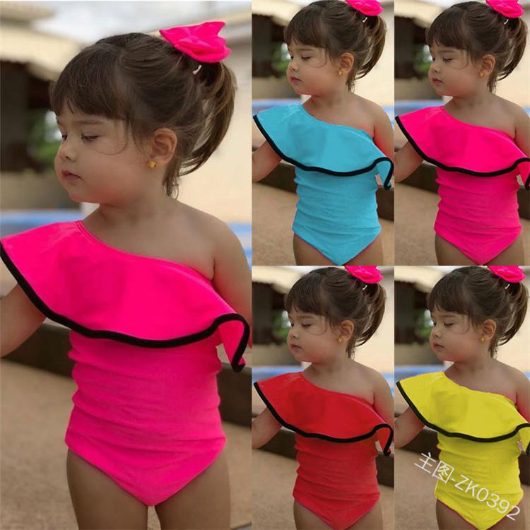 Fashion Summer Baby Kids Girl Two Piece Swimsuit 2019 Child Swimwear For Water Sports Bikini Swim Dress Beach Bathing