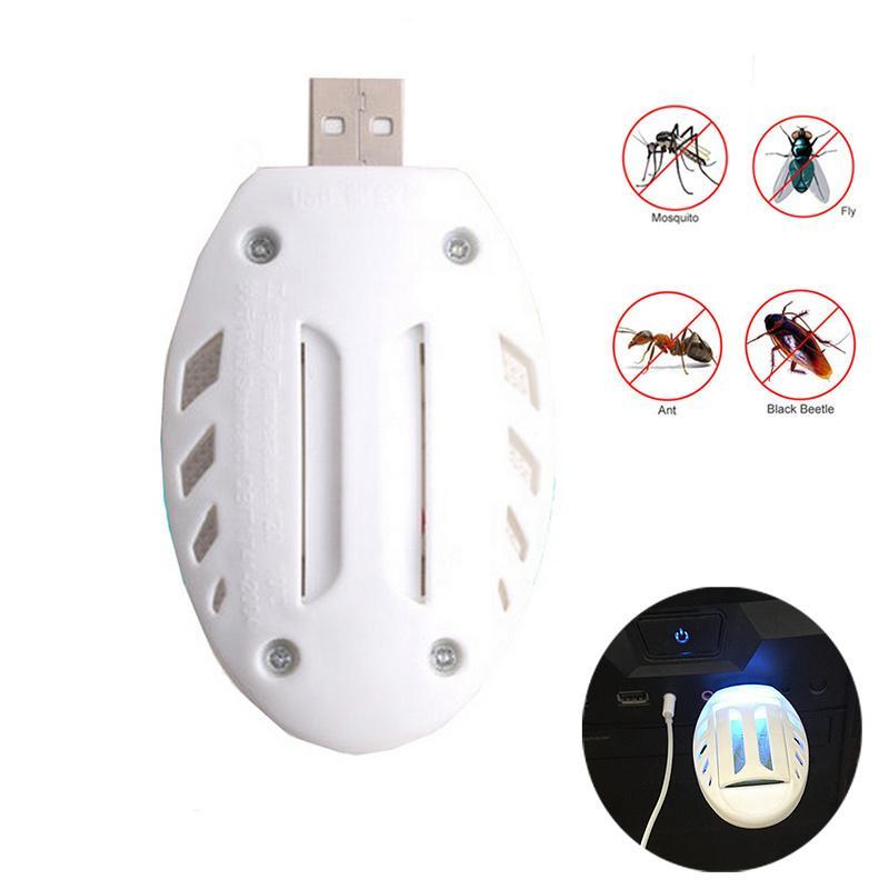 Chauffe anti-moustiques Portable USB électrique et Mosquito Chips Pest Fly insectes pour la maison ou Voyage Mosquito lampe tueur
